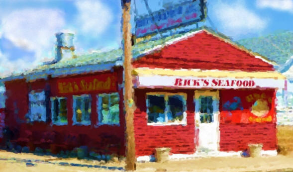 Painting of Rick's Seafood